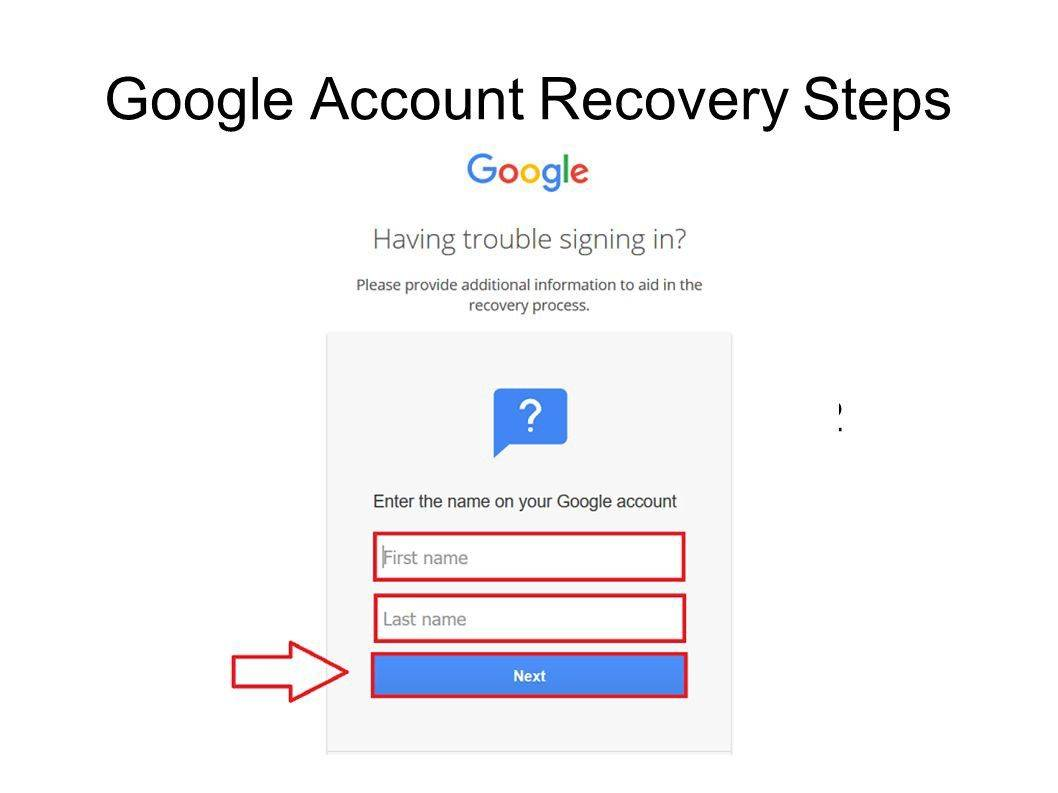 google recovery account
