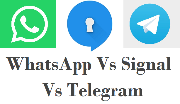 WhatsApp vs Telegram vs Signal